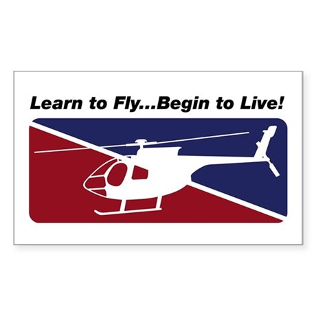 Learn To Fly . . . Live! Rectangle Sticker