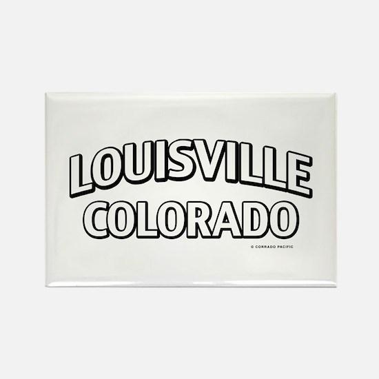 Louisville Colorado Rectangle Magnet