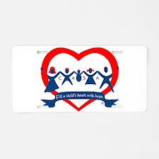 Delaware County CASA Logo Aluminum License Plate