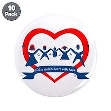 "Delaware County CASA Logo 3.5"" Button (10 pack)"