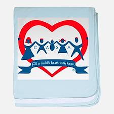 Delaware County CASA Logo baby blanket