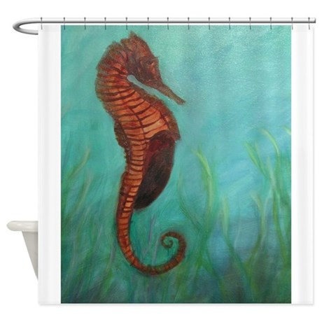 sea horse shower curtain by pattyweeks