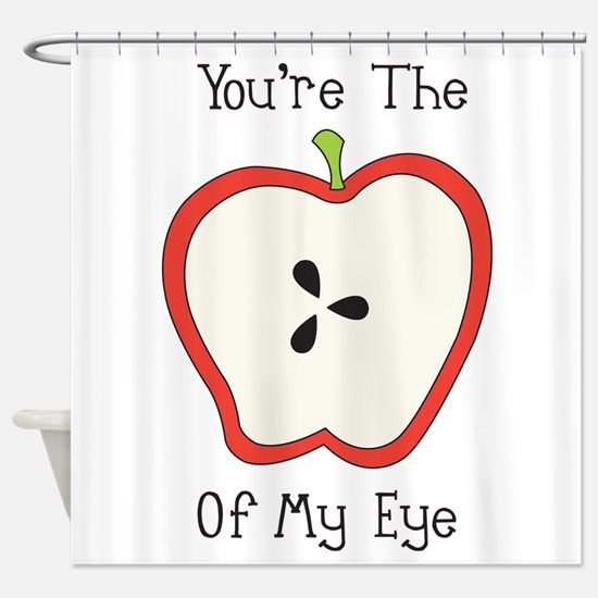 Apple Of My Eye Shower Curtain