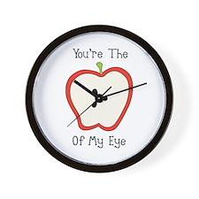Apple Of My Eye Wall Clock