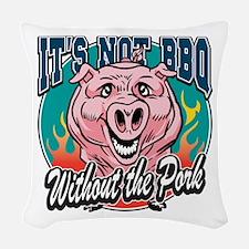 BBQ Pork Woven Throw Pillow
