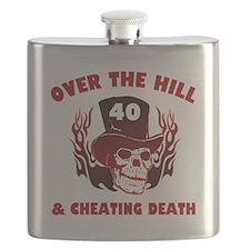40th Birthday Cheating Death Flask