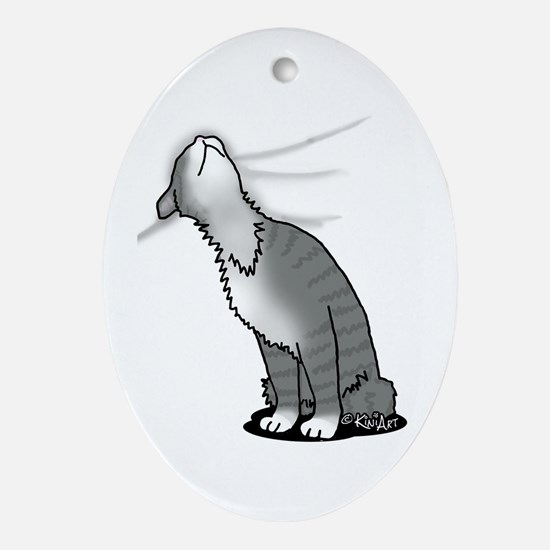 Kitty Love Ornament (Oval)