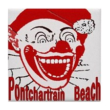 Pontchartrain Beach Clown Tile Coaster