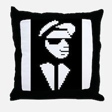 8 Bit Walt Jabsco Throw Pillow