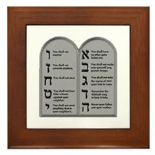 Ten Commandment Framed Tile
