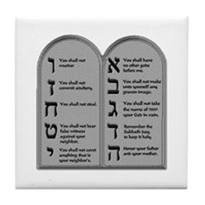 Ten Commandment Tile Coaster