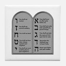 Ten Commandment Tile Coaster