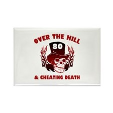 80th Birthday Cheating Death Rectangle Magnet (100