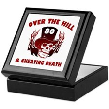 80th Birthday Cheating Death Keepsake Box