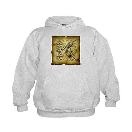 Celtic Letter K Kids Hoodie