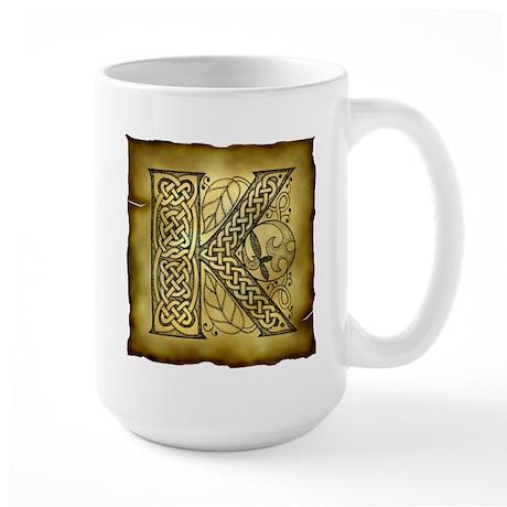 Celtic Letter K Large Mug