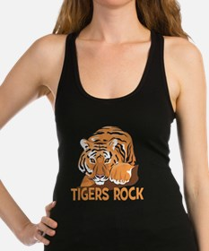 Tigers Rock Racerback Tank Top