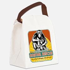 animalrescuechimp.png Canvas Lunch Bag