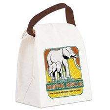 animalrescueelephant.png Canvas Lunch Bag