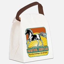 animalrescuehorse.png Canvas Lunch Bag