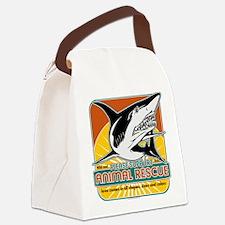 animalrescueshark.png Canvas Lunch Bag