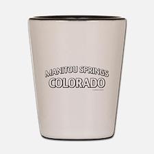 Manitou Springs Colorado Shot Glass
