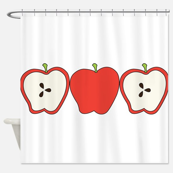 Row Of Apples Shower Curtain