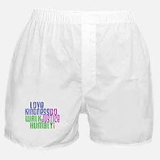 Love Kindness, Walk Gently, Do Justice Boxer Short