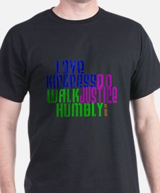 Love Kindness, Walk Gently, Do Justice T-Shirt