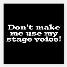 """Stage Voice Square Car Magnet 3"""" x 3"""""""