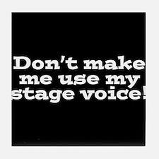 Stage Voice Tile Coaster