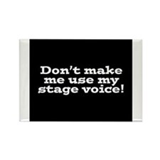 Stage Voice Rectangle Magnet