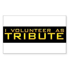 The Hunger Games - I volunteer as tribute Stickers
