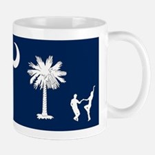 The South Carolina Shag Flag Mugs