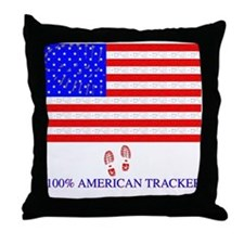 American Tracker Throw Pillow