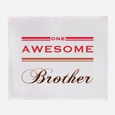 One Awesome Brother Throw Blanket
