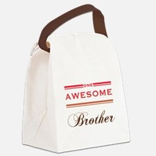 One Awesome Brother Canvas Lunch Bag