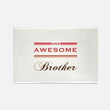 One Awesome Brother Rectangle Magnet