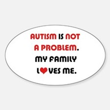 Autism - Not A Problem Oval Decal
