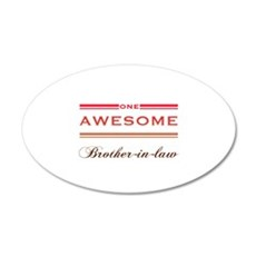 One Awesome Brother-In-Law Wall Decal