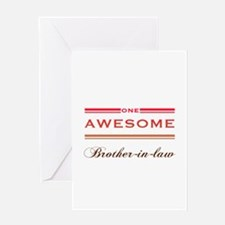 One Awesome Brother-In-Law Greeting Card