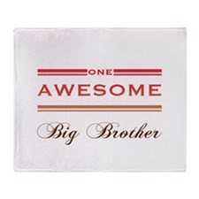 One Awesome Big Brother Throw Blanket