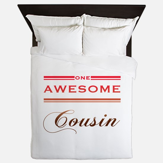 One Awesome Cousin Queen Duvet