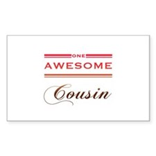 One Awesome Cousin Decal