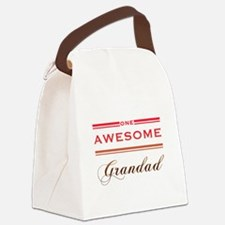 One Awesome Grandad Canvas Lunch Bag