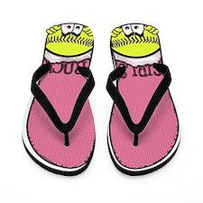 Girls Rock Softball Flip Flops