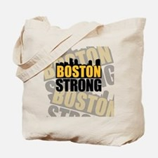 Boston Strong Gold Black Tote Bag