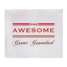 One Awesome Great Grandad Throw Blanket