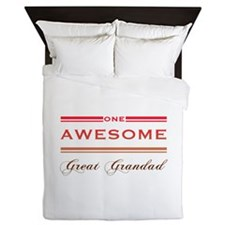 One Awesome Great Grandad Queen Duvet