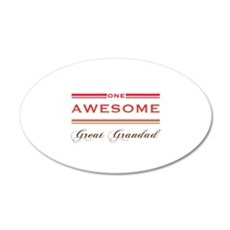 One Awesome Great Grandad Wall Decal